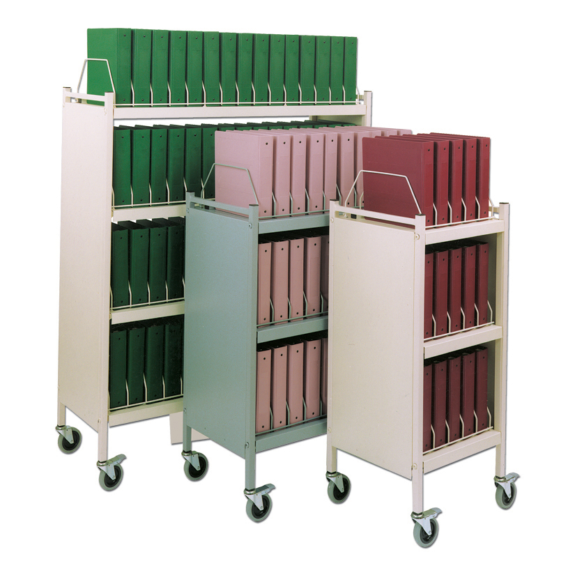 Custom Made Mobile Binder Carts Chart Pro Systems
