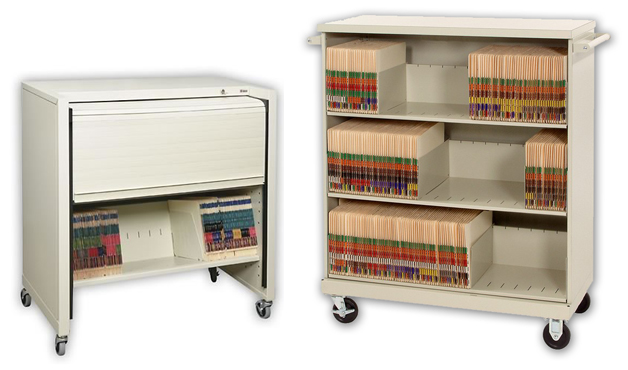 medical-file-folder-cart-locking-rolling-storage