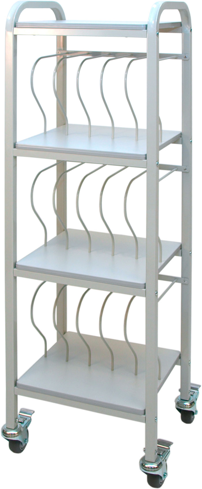 Mobile Binder Cart 15 Space Rack 2 Binders Chart Pro