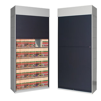 Tambour Door Shelving Cabinet 100 Hipaa Chart Pro Systems