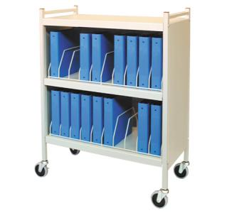 Mobile Chart Rack, 20-Space Binder Cabinet