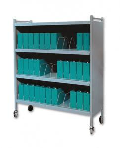 Mobile Chart Rack, 36-Space Binder Cabinet