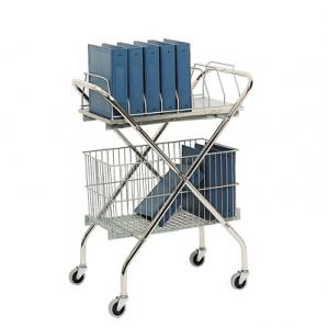 Utility Wire Basket Cart - Chart Rack